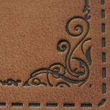 方法旧式な浮彫りになる金属の文字の骨董品のDebossed革パッチ