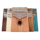 부대, 곡 망치, 곡 스티커 및 설명서를 가진 엄지 피아노 17 키 Kalimba