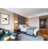 標準木MDFのパネルの中級のホテルの寝室の家具セット