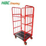 3 paneles de malla de alambre jaula antivuelco contenedor con Base de plástico