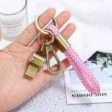 Accessoires de mode en cuir synthétique antique anneau de clé de la poignée de commande personnalisée pour un couple de souvenirs