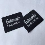 Personalizado 4*3.5cm de tejido de alta densidad de la ropa de etiqueta etiquetas principal