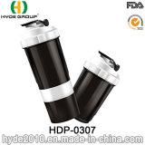 2018 eben 500ml BPA geben pp.-Plastikprotein-Schüttel-Apparatflasche mit Behälter frei (HDP-0307)