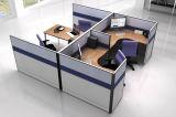 Grande stazione di lavoro moderna dell'ufficio del cubicolo della gente 3-Desks della mobilia due (SZ-WS008)