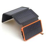 2018 Nuevo cargador de teléfono móvil 15000 mAh impermeable plegable doble USB Banco de la energía solar