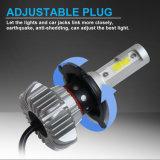 Super brillante faro Kits de 12V COB Fanless S9 H4 H7 LED Bombillas LED Auto Coche
