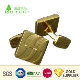 中国の卸し売り習慣は金属によって浮彫りにされた旧式な金によってめっきされた海事のアンカーロゴギヤカフスボタンを上げた