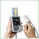 Ossimetro tenuto in mano di impulso FM-6510 con SpO2, il Temp e la frequenza del polso
