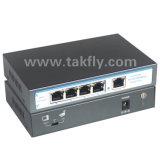 CCTV 4 puertos switch Poe con red de enlace ascendente de RJ45
