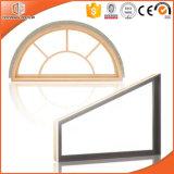 La especialidad de madera de forma personalizada de la ventana de vidrio, aluminio de alta calidad de la ventana de madera, ventana de la especialidad de madera maciza