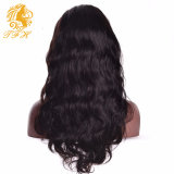 India onda del cuerpo del pelo Pelucas llenas del cordón pelucas de cabello humano para Hair Pelucas pelucas delanteras del cordón frontal Humanos Negro cordón de las mujeres con el pelo del bebé