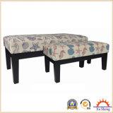 Home Furniture 2-PC Banc en bois tapissé en tissu marin imprimé