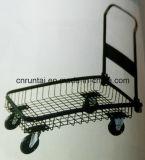 Faltbare Ineinander greifen-Zelle-Stahlplattform-Hand-LKW mit PU-Fußrolle