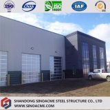 Construction de structure métallique pour l'entrepôt avec le garage en acier