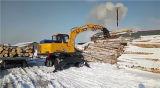 Cargador de madera de la nueva pequeña rueda de 8.5 toneladas/cargador de la caña de azúcar para la venta