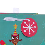 Sacs en papier de achat de Noël de sacs en papier fabriqués à la main de cadeau