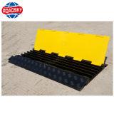 Haltbares Gelb kanalisiert Rampen-im Freien Gummikabel-Schoner für Fußboden