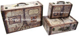 [س/3] زخرفة أثر قديم غلّة كرم كلاسيكيّة [إيفّل توور] تصميم طباعة [بو] [لثر/مدف] خشبيّة تخزين حقيبة صندوق