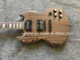 Zebrawood Inlay трапецоида перлы гитара Sg белого электрическая