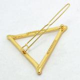 جديدة تصميم نمط مجوهرات نوع ذهب/فضة يصفّى معدن مثلّث دبّوس شعر