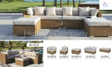 Im Freien Patio-Schnittmöbel PET des Patio-Hz-Bt033 Weidenrattan-Sofa-gesetzte Plattform-Couch