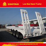 3axles 40-60foot Semi-remorque Lowboy et Low Bed