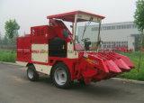 Máquina de colheita de milho com cabine de condução semi-fechada