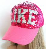 Lantejoulas Bordados Sport Cap Boné chapéu de malha