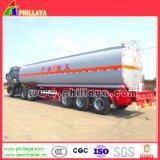 Tri-Árboles 45000 litros de petróleo del combustible del petrolero de acoplado semi
