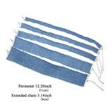 Silver-Tone Handmade бледнеют - голубые ожерелья чокеровщика способа Jean изготовленный на заказ