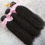 加工されていないバージンのマレーシアの毛のねじれたカールの毛の拡張はRestyledである場合もある