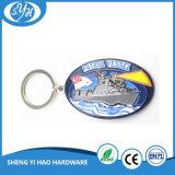 カスタマイズされた亜鉛合金の柔らかいエナメル海軍Keychain