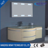 高品質LEDのスライバミラーPVC現代単一の浴室用キャビネット