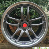 Japan Because Racing R18*8.5/9.5j Staggered Work Emotion Alloy Wheels