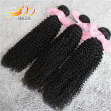 安い8Aカンボジアのバージンの人間の毛髪の巻き毛の自然な毛のよこ糸