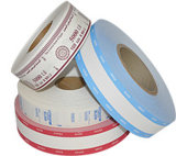 Correa del manojo de los billetes de banco y vendas de papel frágiles de la mano