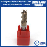 4 торцевая фреза карбида вольфрама каннелюры HRC45/55/60/65 для режущих инструментов