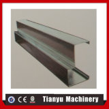 Roulis froid en aluminium de cadre de porte galvanisé par acier formant la machine