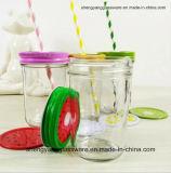 Tarro de cristal del regalo promocional caliente de la venta/tarro de masón de la botella de cristal con la tapa