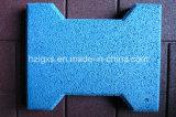 Плитки пола голубых EPDM зерен Собак-Косточки резиновый