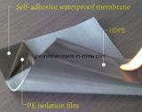 建築材料のPEのフィルムの自己接着瀝青の防水膜