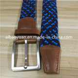 Los hilos de color azul Correa de tejido elástico plano denso hebilla