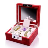Caixa de jóias de madeira Natal/Business Dom Fingerprint Jóias Estojo com bloqueio