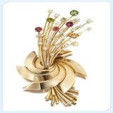 새로운 디자인 아름다운 금속 형식 보석 브로치