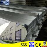 Лист крыши пакгауза гофрированный структурой гальванизированный стальной