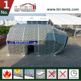 Structure mobile de tente de hangar avec l'ouverture de porte de paupière