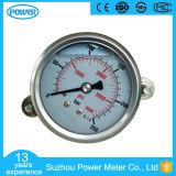 """indicateur de pression rempli par liquide d'acier inoxydable de 2.5 """" 63mm avec la bride"""
