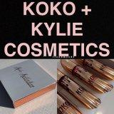 De nieuwste Vloeibare Lippenstift Vastgestelde 4PCS/Set van de Steen van het Pakket van de Uitrusting van de Lip van Kylie Koko Kollection Gouden
