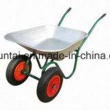 Carriola pneumatica durevole delle rotelle di vendita calda doppia (Wb6410)