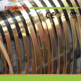 Bordure foncée mate de PVC de couleur en bois des graines de marque d'Eoncred